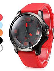 Männer Silikon Analog Quarz-Armbanduhr (verschiedene Farben)