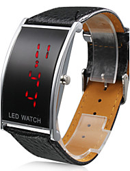 Couple's Red LED Digital PU Band Wrist Watches (1-Pair, Black & White) Cool Watches Unique Watches