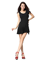 Dancewear Viscose Latin Dance Dress For Ladies