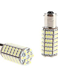 1156 5W 102x3528 SMD White Light LED-Lampe für Auto Tail / Blinkleuchte (12V, 2-Pack)