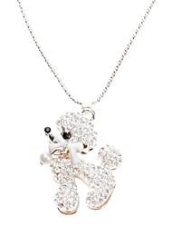 z&x® cristal collier de motif de chiot