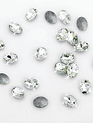 Wedding Décor Pretty Oval Cut Crystal Diamond Confetti - Set of 20 Pieces (More Sizes)
