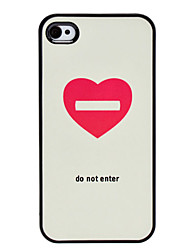 Flash Design Heart Pattern Hard Case für iPhone 4/4S