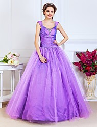 TS Couture Prom / Formal Evening / Quinceanera / Sweet 16 Dress - Lilac Plus Sizes / Petite Ball Gown / A-line / Princess Scoop / Straps Floor-length