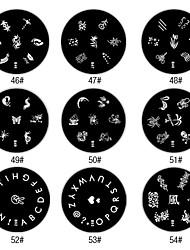 Nail Art Stamping Stempel Vorlage Platte M-Serie (verschiedene Farben)