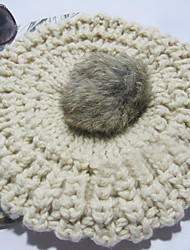 Women's Knit Rabbit Fur Hat