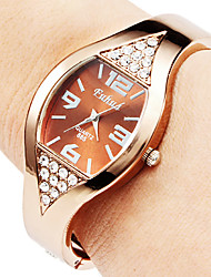 Women's Watch Diamond Decor Bronze Steel