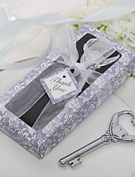 "Chrome Bottle Favor-1Piece/Set Bottle Openers Classic Theme Non-personalised Silver 3 1/2"" x 1 1/2"" (8.9*3.8cm)Gift box with a organza"