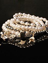 Femmes Diamond Pearl Bracelet