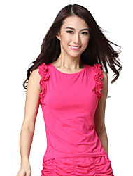 Dancewear Viscose Sleeveless Practice Latin Dance Top For Ladies More Colors
