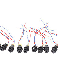 12mm 5mW Red Laser Diode Modules (Black, DC 4.5V)