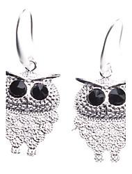 Little Black Eye Owl Shaped Earings