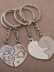 Personalized Heart Key Ring – Key To Your Heart (Set of 4 Pairs)