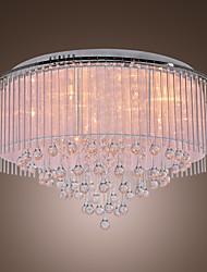 Luminária Embutida para 8 Luzes com Gotas de Cristal - Lâmpadas de Fabrica