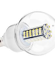 6W E14 Ampoules Globe LED G60 120 SMD 3528 500 lm Blanc Naturel AC 110-130 / AC 100-240 V
