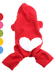 Dog Hoodie Red / Orange / Yellow / Green / Blue / Pink Dog Clothes Winter Hearts