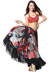 Performance Dancewear Crystal Cotton and Chiffon with Sequins Belly Dance Outfits For Ladies