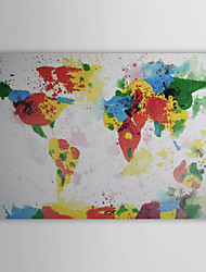 Hand Painted Oil Painting Abstract World Map 1211-AB0121