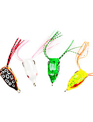 "1 pcs Soft Bait Fishing Lures Soft Bait Frog Brown Green White Yellow g/Ounce mm/1-3/8"" inch,Soft Plastic Sea Fishing Freshwater Fishing"