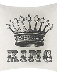 The King Cotton/Linen Decorative Pillow Cover