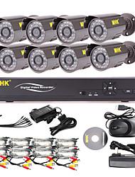 MHK ® -8 Channel One-Touch Online CCTV DVR mit 8 Außen Warterproof Kamera
