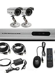 Anko-CCTV Sistema con 2 telecamere esterne per la casa e ufficio (per fai da te)