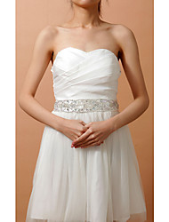 Elastic Satin Wedding/Party/ Evening Sash - Beading/Crystal Women's Sashes