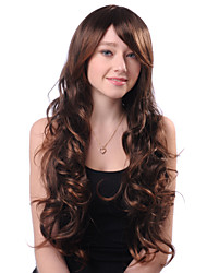 Capless Long Brown Curly High Quality Synthetic Japanese Kanekalon Hot Sale Wigs