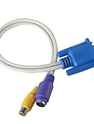 VGA a S-Video Cable para PC a la TV (20 cm)