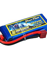1500mAh 11.1V/3S bateria Lipo 25C para o modelo de RC