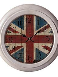 "12.75 ""horloge murale h drapeau en métal"