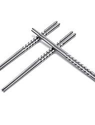 Chopsticks de rosca de aço inoxidável
