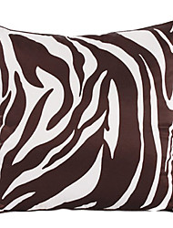Zebra Print Polyester Decorative Pillow Cover