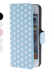 Dot Pattern PU Leather Magnet Case with Stand for iTouch 5 (Assorted Colors)