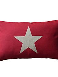 Star Cotton/Linen Decorative Pillow Cover