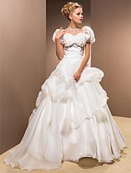Ball Gown Sweetheart Floor-length Organza Wedding Dress