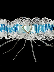 Garter Stretch Satin / Lace Blue