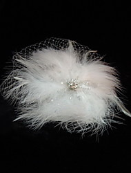 Women's Feather / Tulle Headpiece-Wedding / Special Occasion / Casual Fascinators / Birdcage Veils
