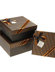 Classic Stripe caja de regalo con la cinta bowknot (Más tamaños)