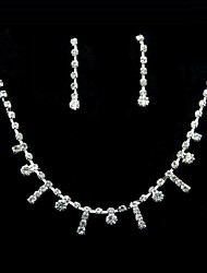 Jewelry Set Women's Anniversary / Birthday / Gift / Party / Special Occasion Jewelry Sets Alloy Rhinestone Necklaces / Earrings Silver