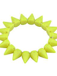 lureme®fluorescent rivets en plastique bracelet (couleurs assorties)