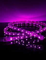 3.5W / M impermeable 3528 SMD LED Light Purple Strip Lamp (220V, seleccionable longitud)