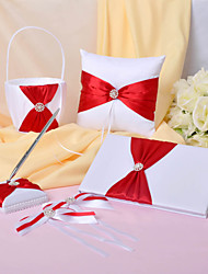 Pure Elegance Wedding Collection Set With Double Bowknots (4 Pieces)