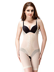 Chinlon with Embroidery Mid Thigh Corsets Daily Wear Shapewear Sexy Lingerie Shaper