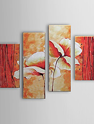 Hand-painted Oil Painting Floral Set of 4 1302-FL0061