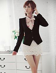 BLJY Black Collarless Basic Blazer