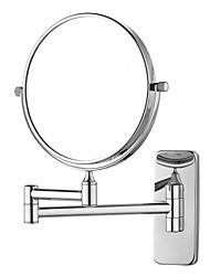 acabamento cromado de 180 graus de rotação retangle montagem na parede de 360 graus de rotação de prata espelho de maquilhagem (l)