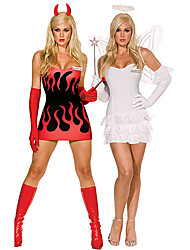 Sexy Spandex Lycra Angel and Devil Holiday Costumes(2 Outfits)