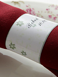 Personalized Paper Napkin Ring - Floral Pattern (Set of 50)