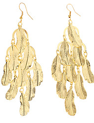 Lucky Leaf Shape Gold Plated Earrings